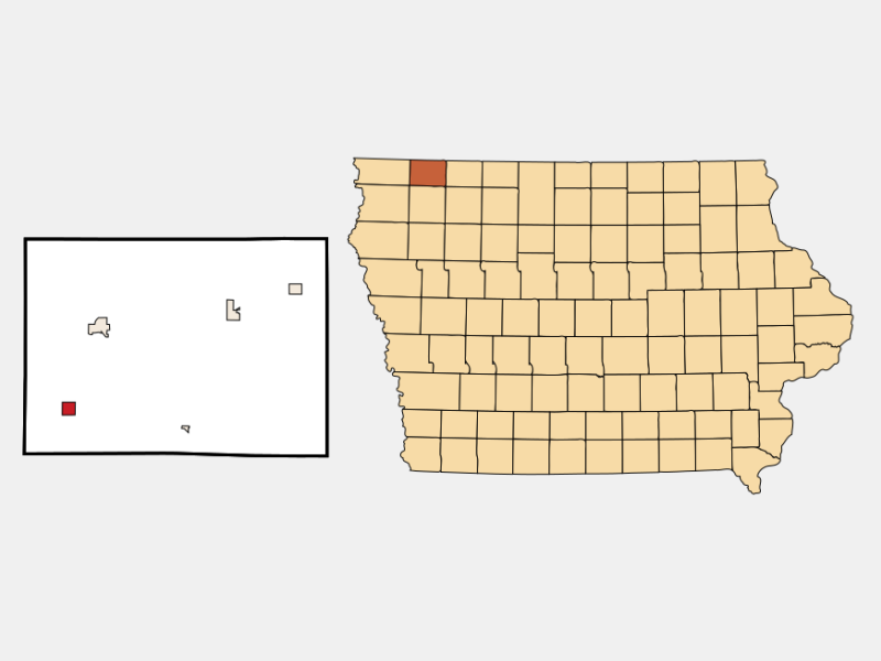 Ashton locator map