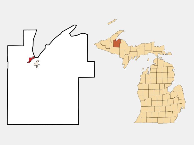 Baraga location map
