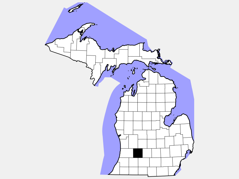 Barry County locator map
