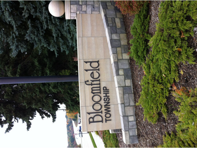 Bloomfield Township Welcome sign image