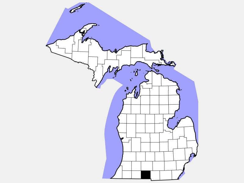 Branch County locator map