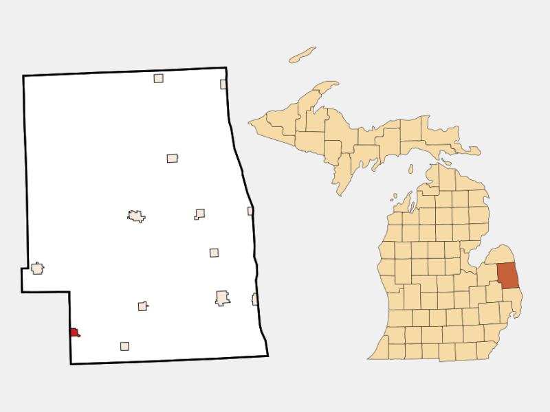 Brown City locator map