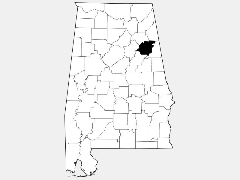 Calhoun County locator map