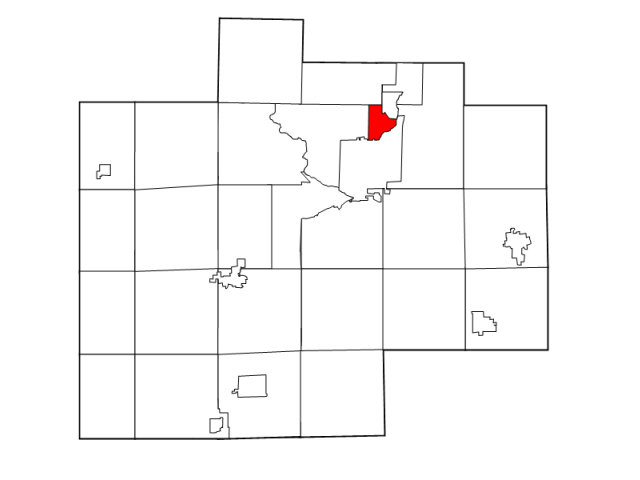 Carrollton locator map