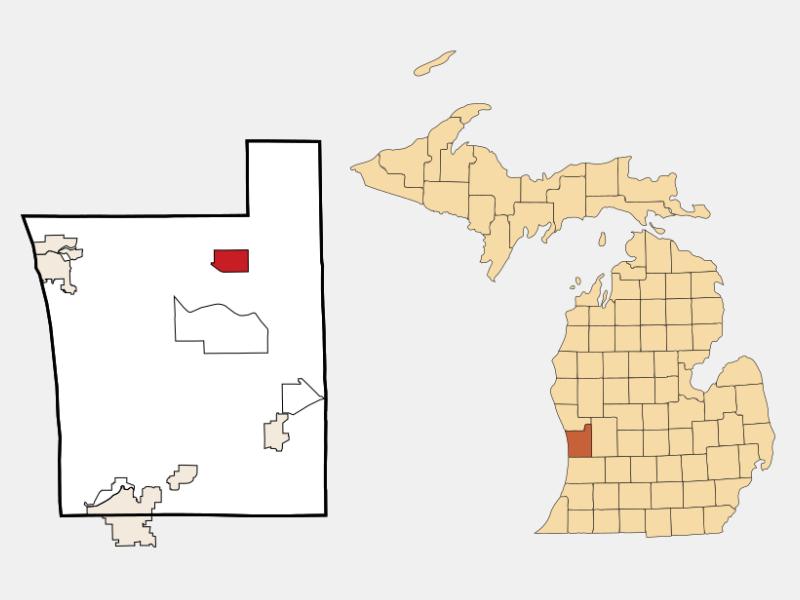 Coopersville locator map