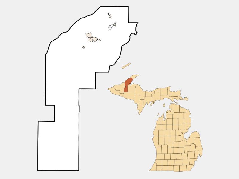 Copper City locator map
