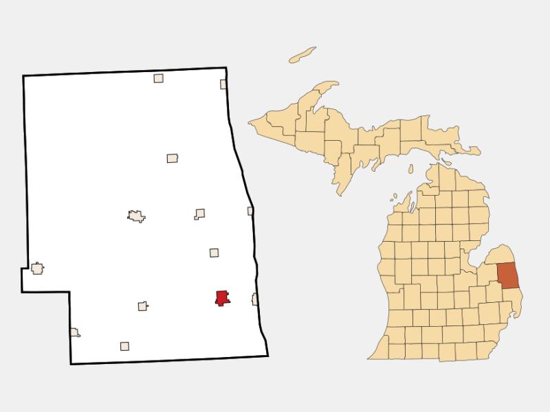Croswell locator map