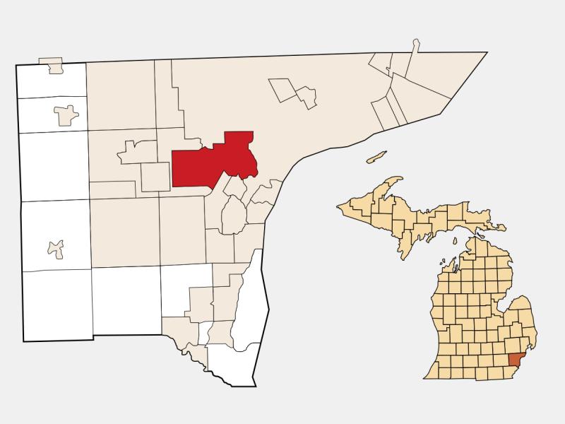 Dearborn locator map