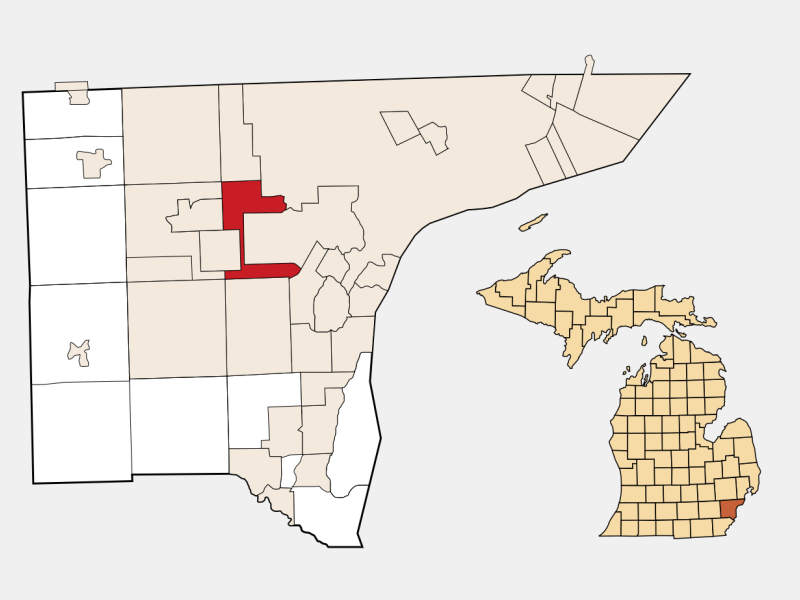 Dearborn Heights locator map