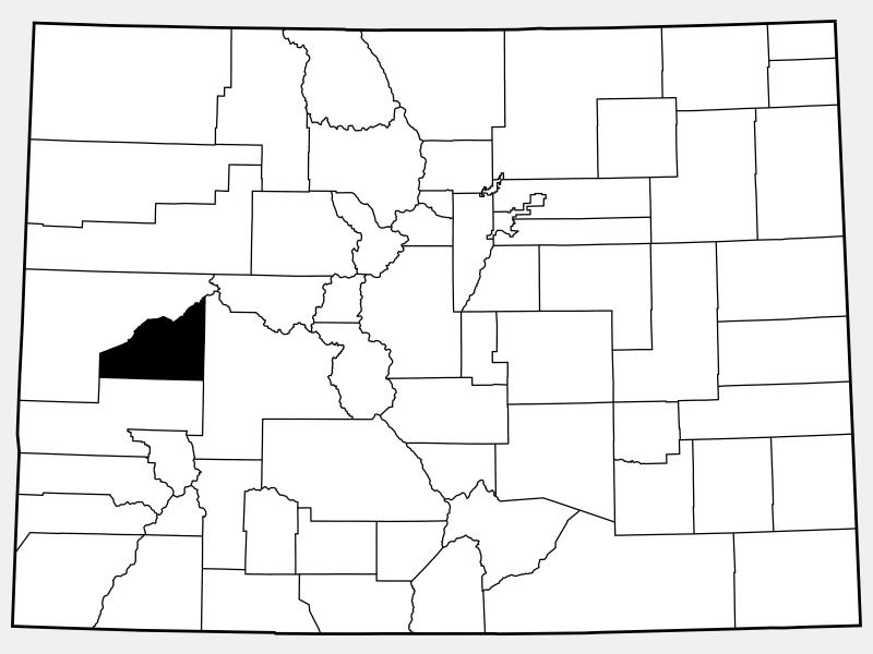 Delta County locator map