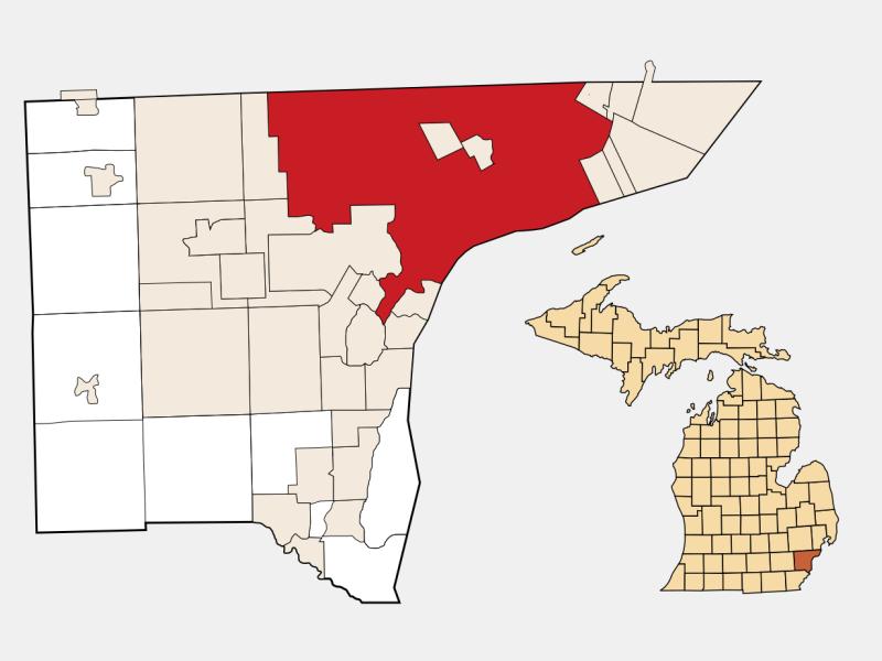 Detroit locator map