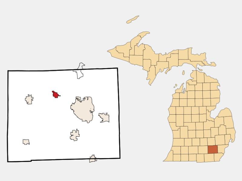 Dexter locator map