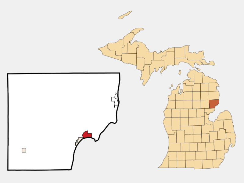 East Tawas location map
