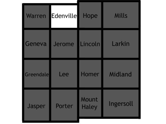 Edenville locator map