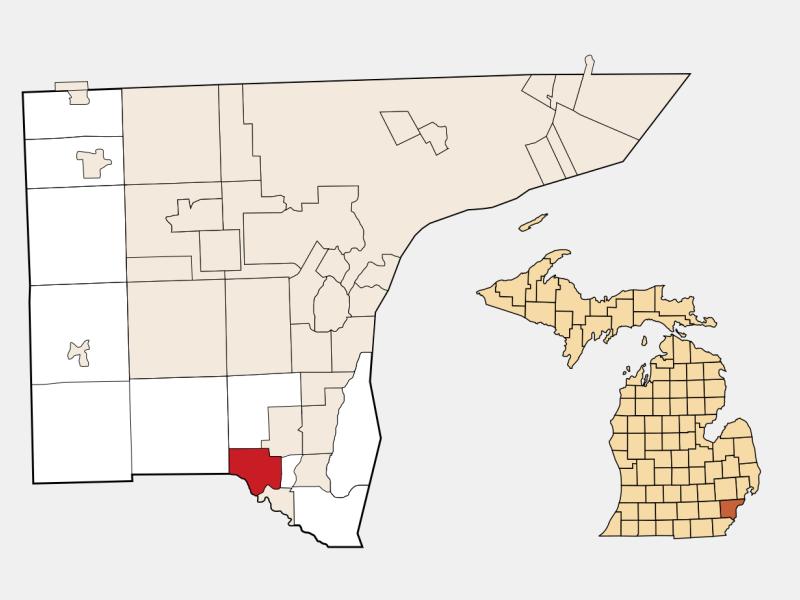 Flat Rock locator map