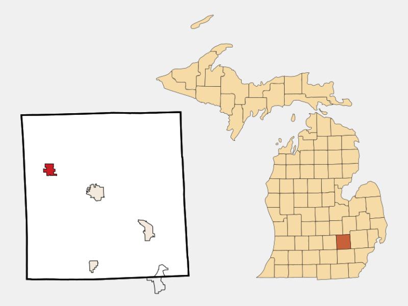 Fowlerville locator map