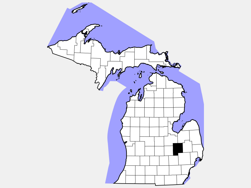 Genesee County locator map