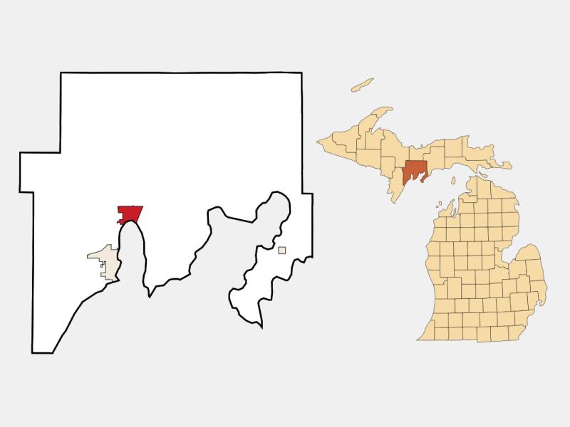 Gladstone locator map