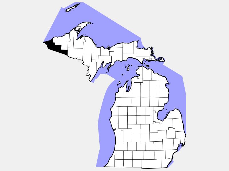 Gogebic County locator map