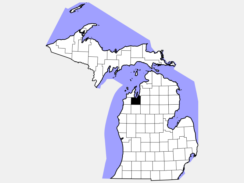 Grand Traverse County location map
