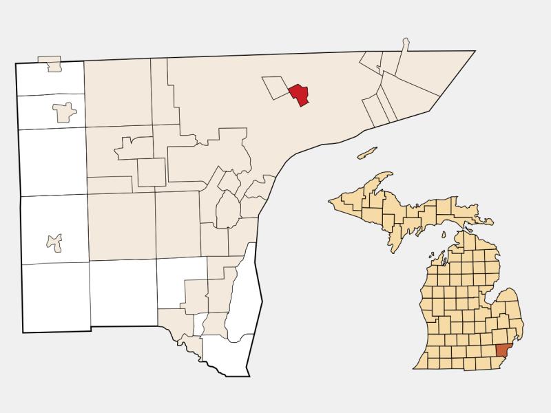 Hamtramck locator map