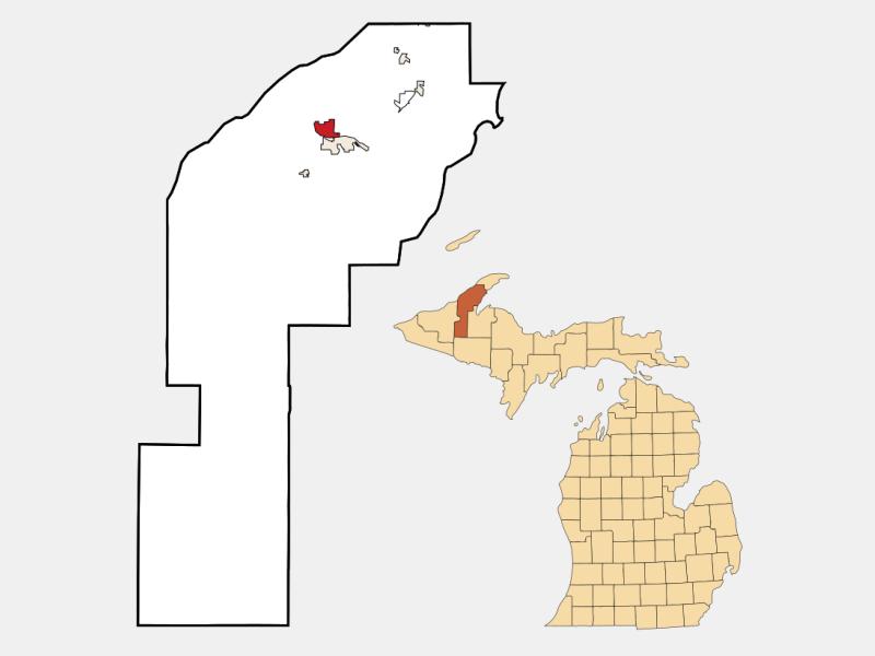 Hancock locator map