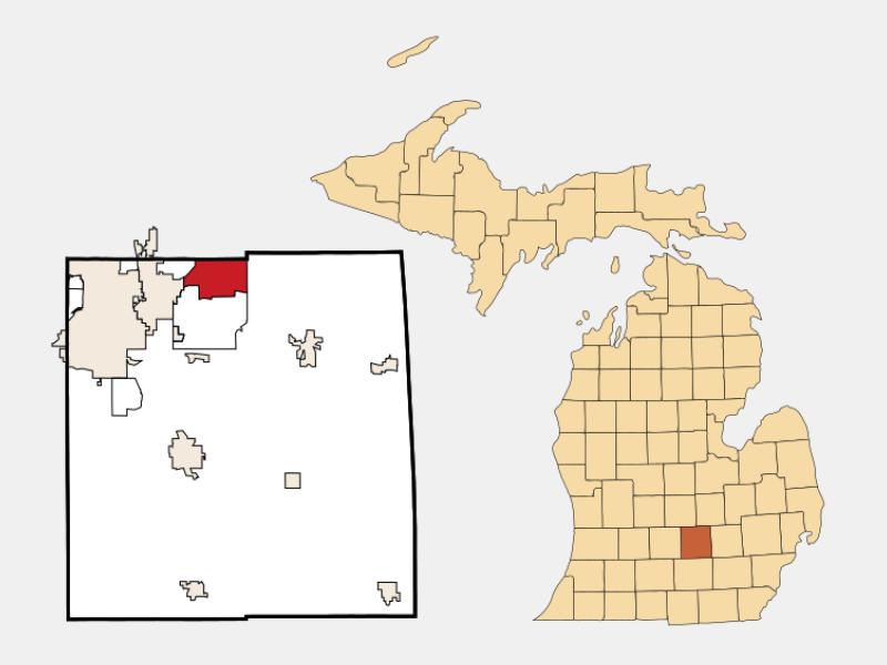 Haslett locator map
