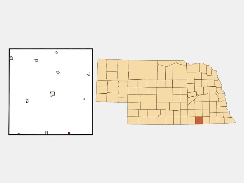 Hubbell, MI locator map