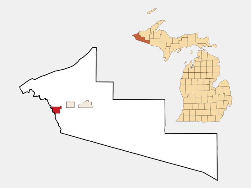 Ironwood location map