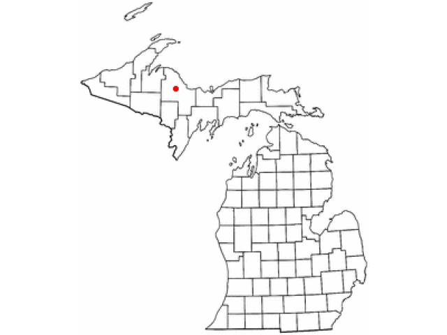 Ishpeming locator map