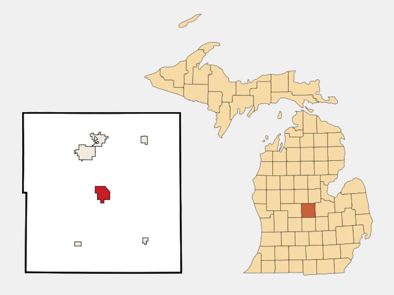 Ithaca locator map