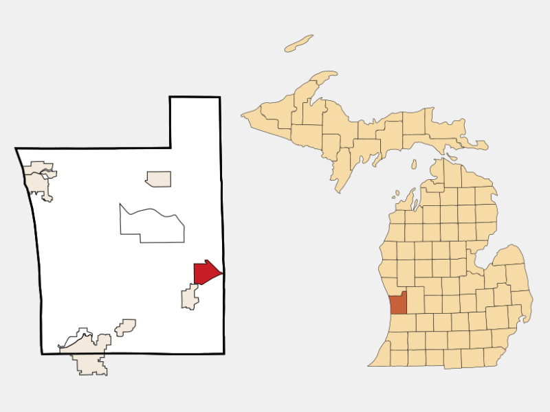 Jenison locator map