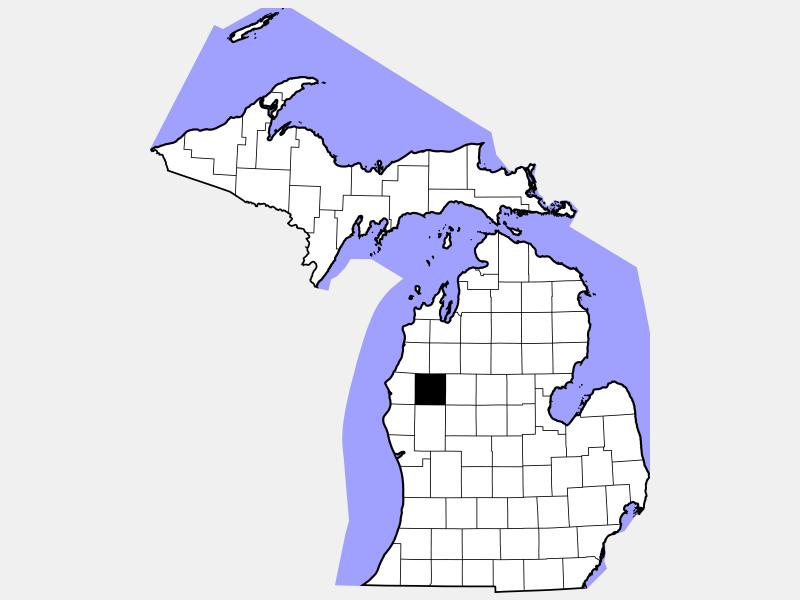 Lake County locator map