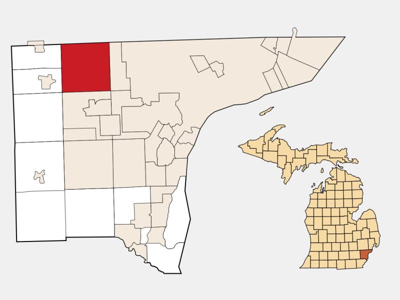 Livonia locator map