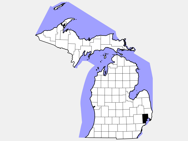 Macomb County locator map