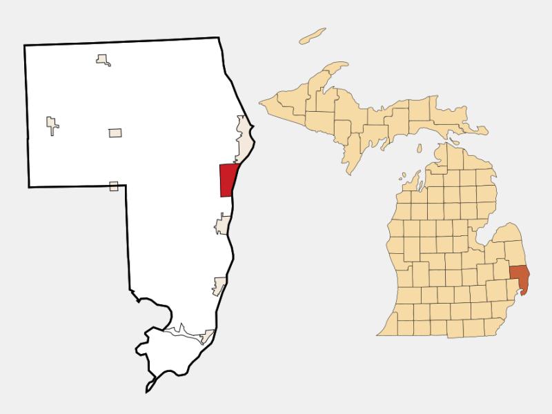 Marysville locator map