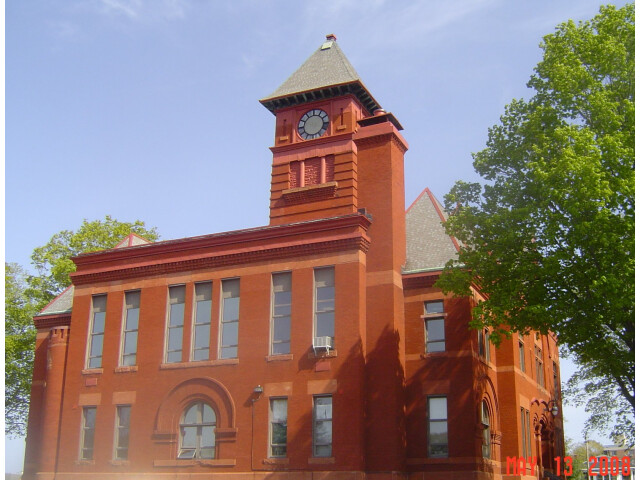 Mason County courthouse clock tower image
