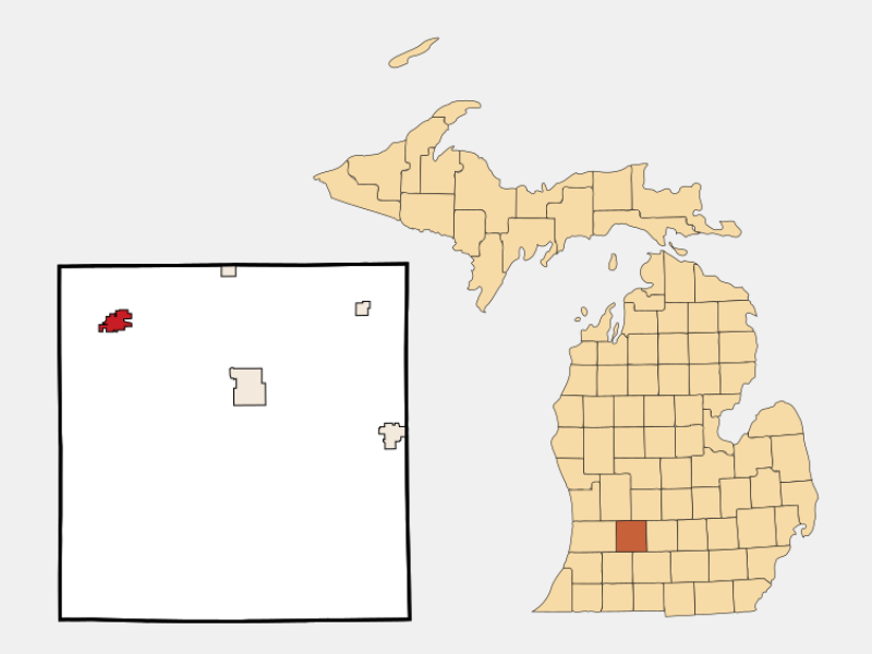 Middleville locator map