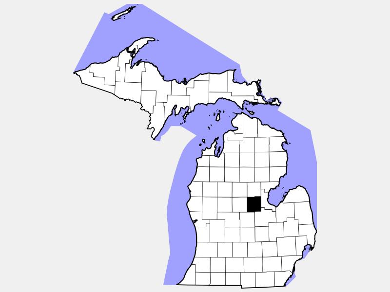 Midland County locator map
