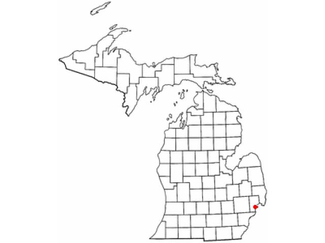 Mount Clemens locator map
