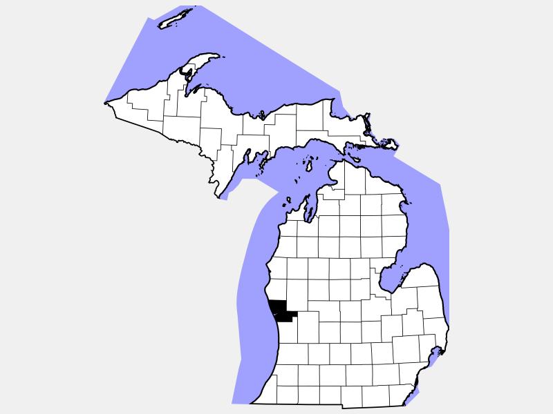 Muskegon County locator map