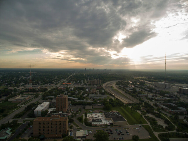 Interstate 696 drone image image