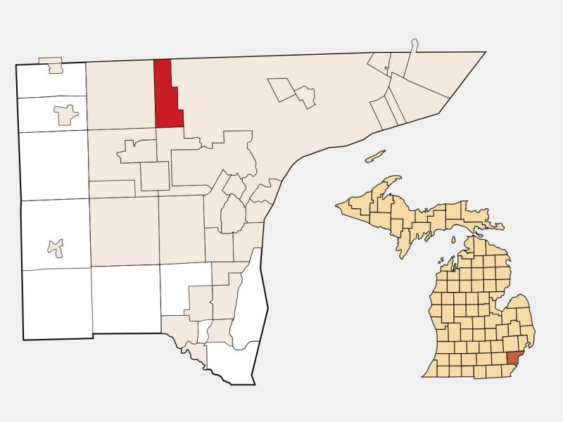Redford locator map