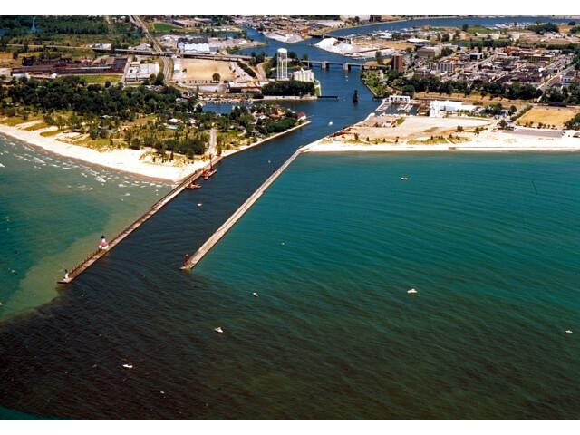 St Joseph Michigan aerial view image