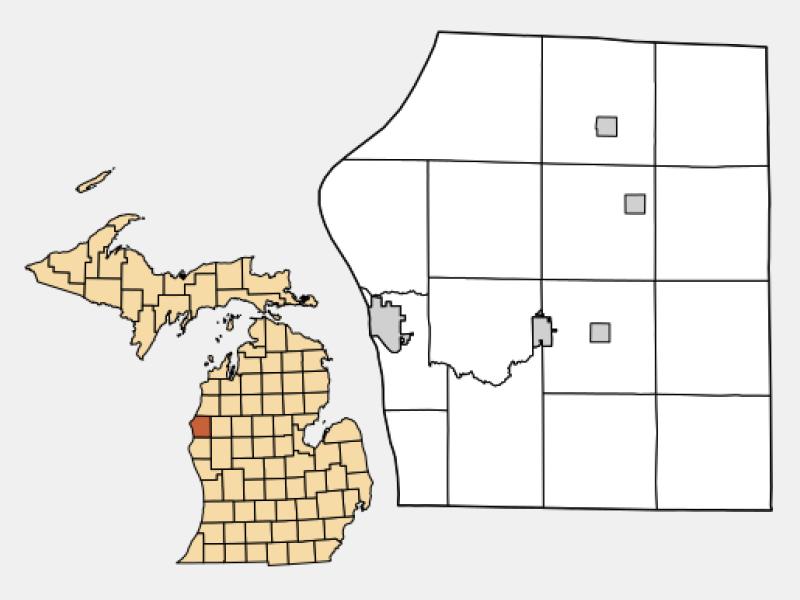 Scottville locator map