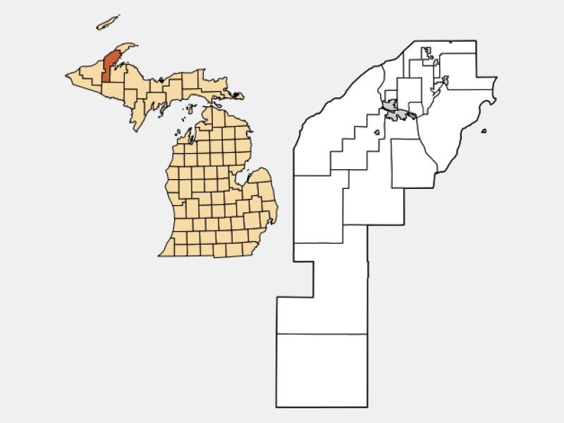 South Range locator map