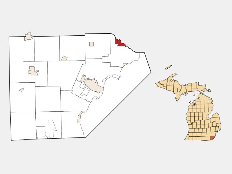 South Rockwood locator map