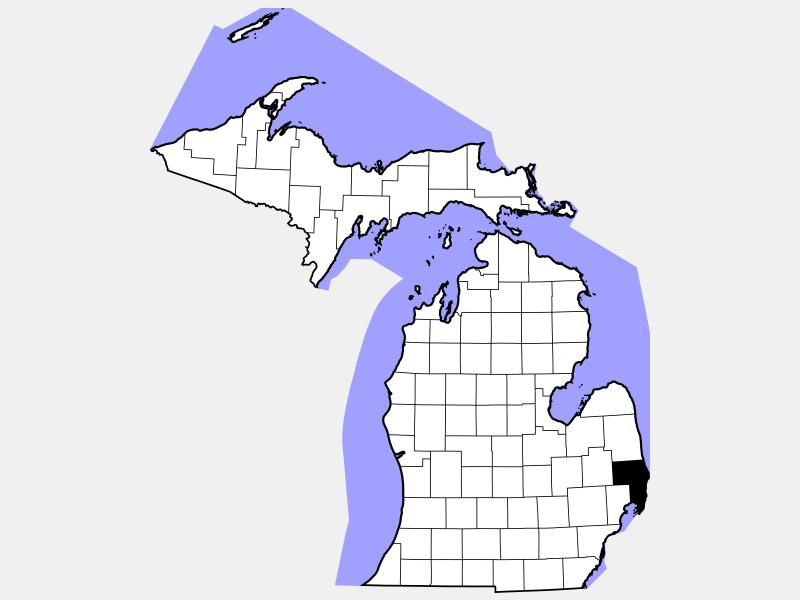 Saint Clair locator map