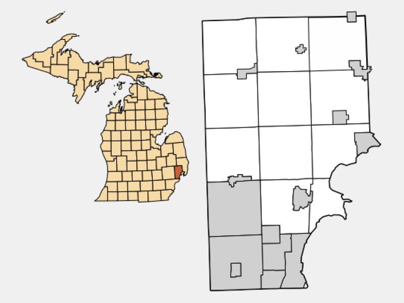 Saint Clair Shores locator map