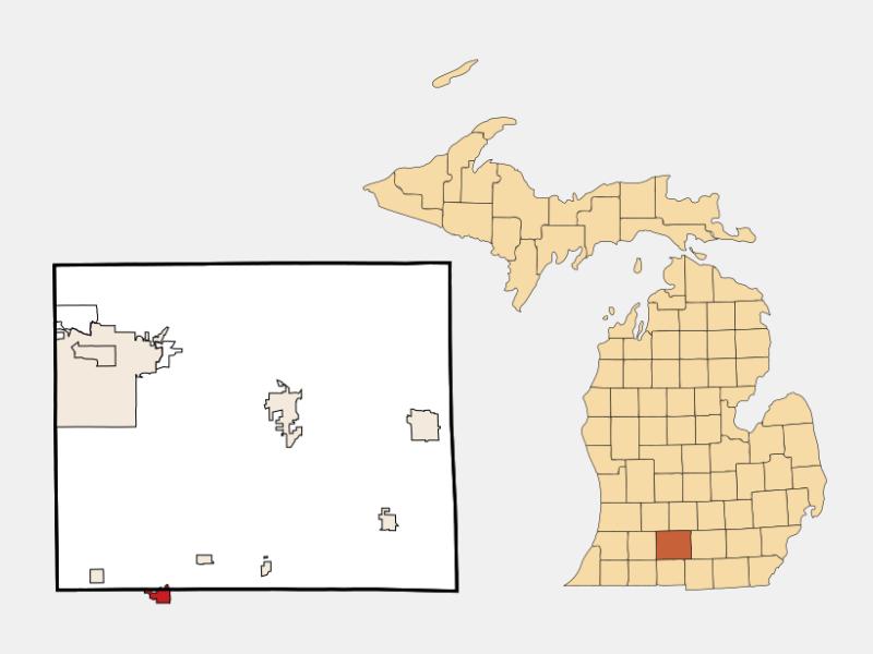 Union City locator map